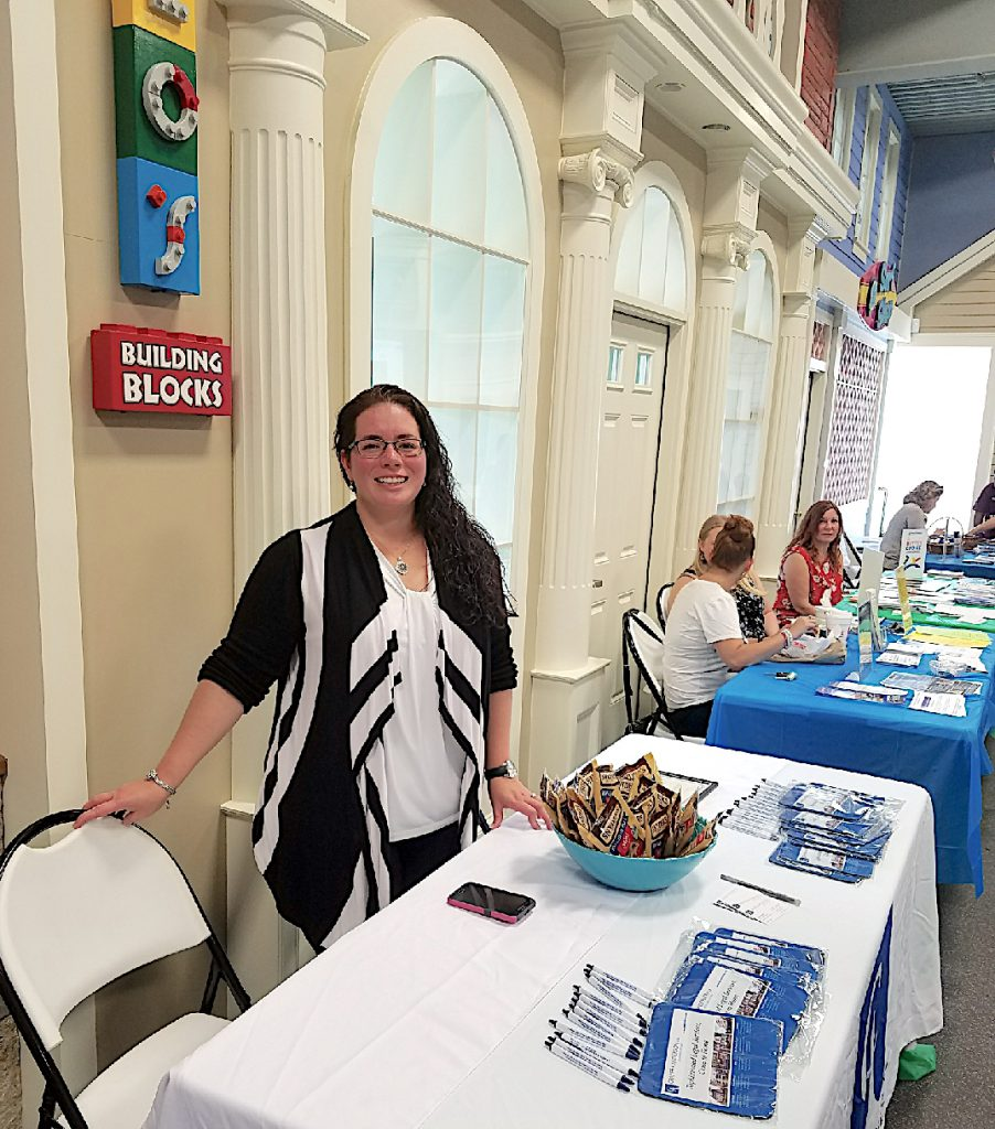Cramer & Anderson Attorney Lisa Rivas at the Hispanic Center of Greater Danbury's backpack drive in 2017.