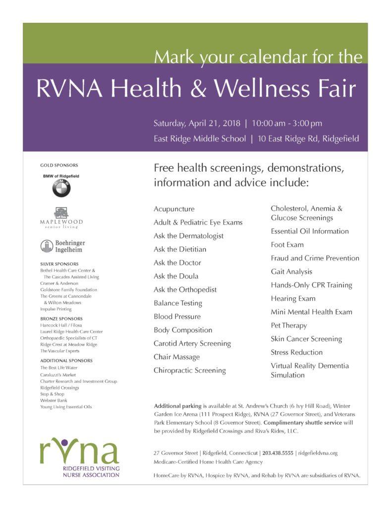 Cramer & Anderson Sponsors Health & Wellness Fair in Ridgefield