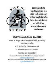 This year's Danbury Ride of Silence poster.