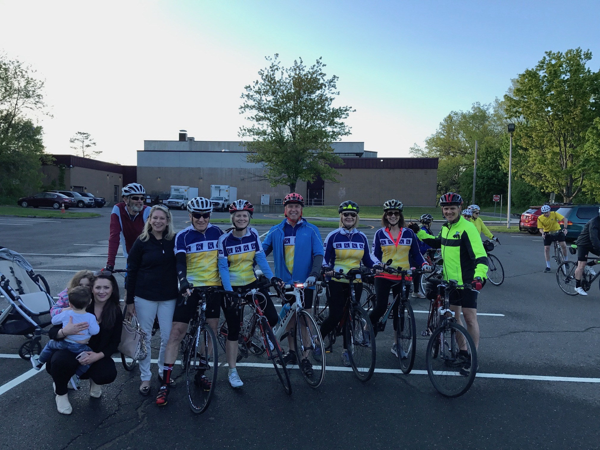 Cramer & Anderson attorneys and staff participated in the Danbury-Bethel Ride of Silence May 15 evening in honor of David Burke, a treasured Partner in the firm who died from his injuries after a tragic cycling accident in March 2016. Attorney Burke's widow, June Anne, joined the group, along with the couple's daughter Alexandra and her two children. Riders included Attorneys Ken Taylor, John Tower, Kim Nolan, and Lorry Schiesel, with her husband, Dan, as well as staff members Jeremy Ruman and Denice Hull.