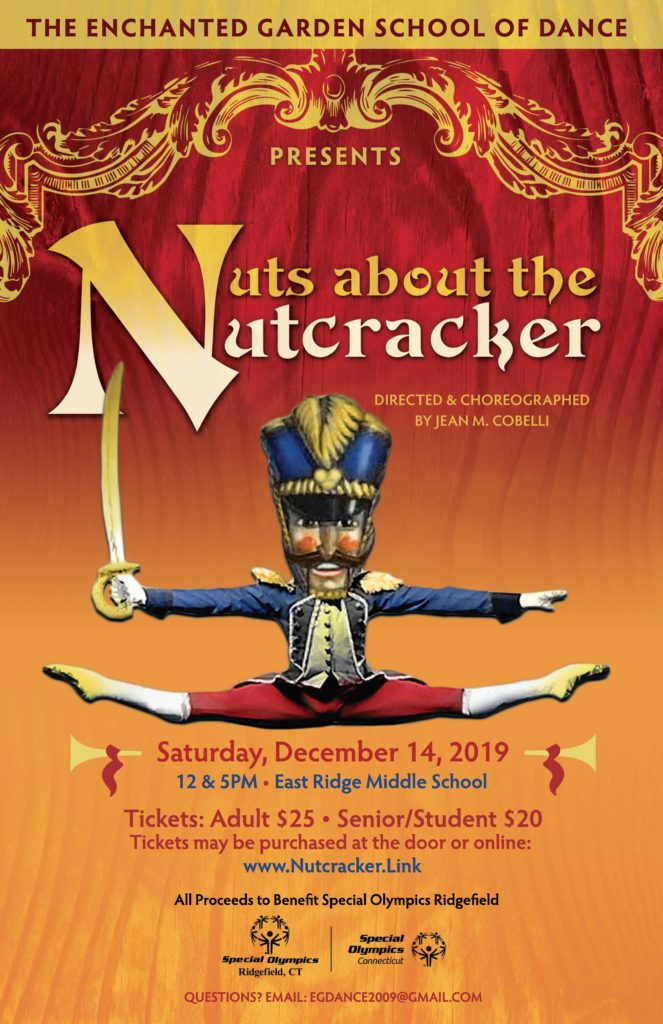 "The 2019 poster for ""Nuts about the Nutcracker"" in Ridgefield, Conn."