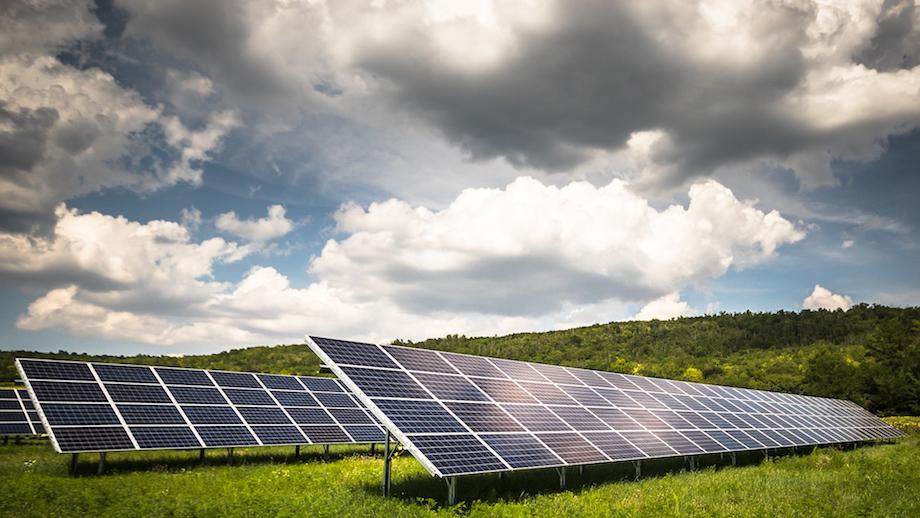 Stock image of solar power panels